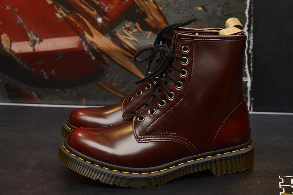 1460 Cherry Vegan 8 Eye Boot