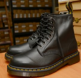 1460 Black Nappa 8 Eyelet Boot