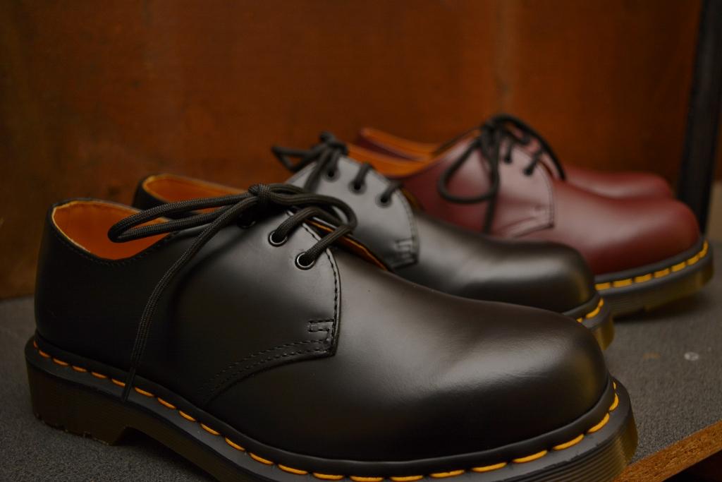 1461 Black Smooth 3 Eyelet Shoe
