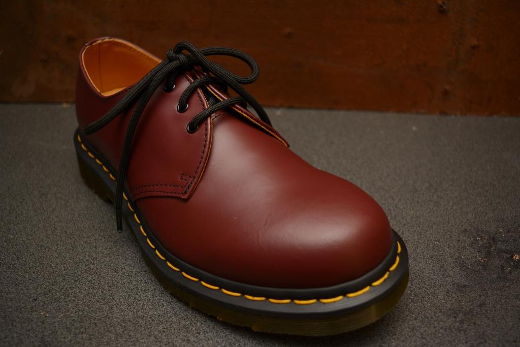 1461 Cherry Smooth 3 Eye Shoe