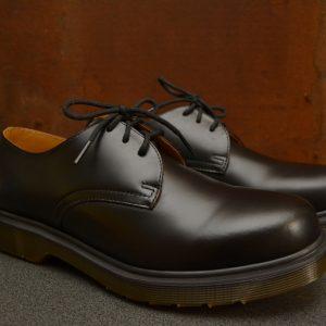 1462 Black Polished Smooth 3 Eyelet Shoe