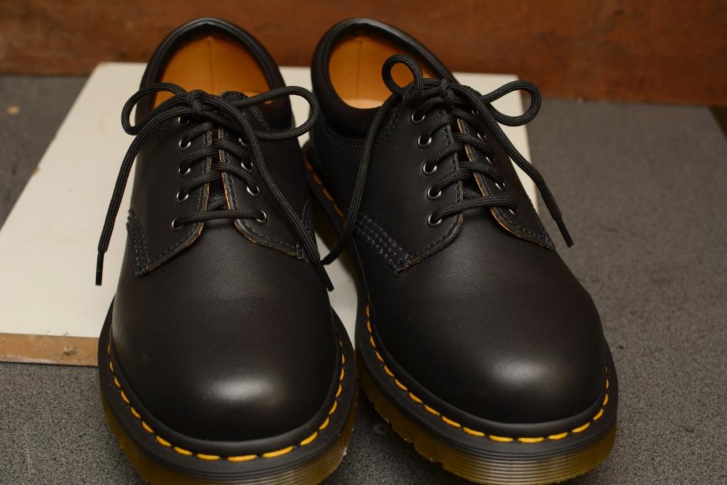 8053 Black Nappa 5 Eyelet Shoe