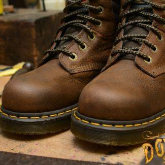 Hynine 6 Eye Steel Toe Brown Safety Boot