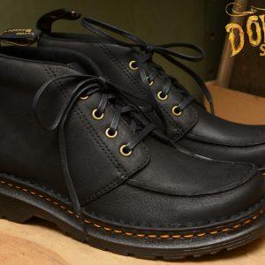 Austin Moccasin Toe 4 Eyelet Boot Black