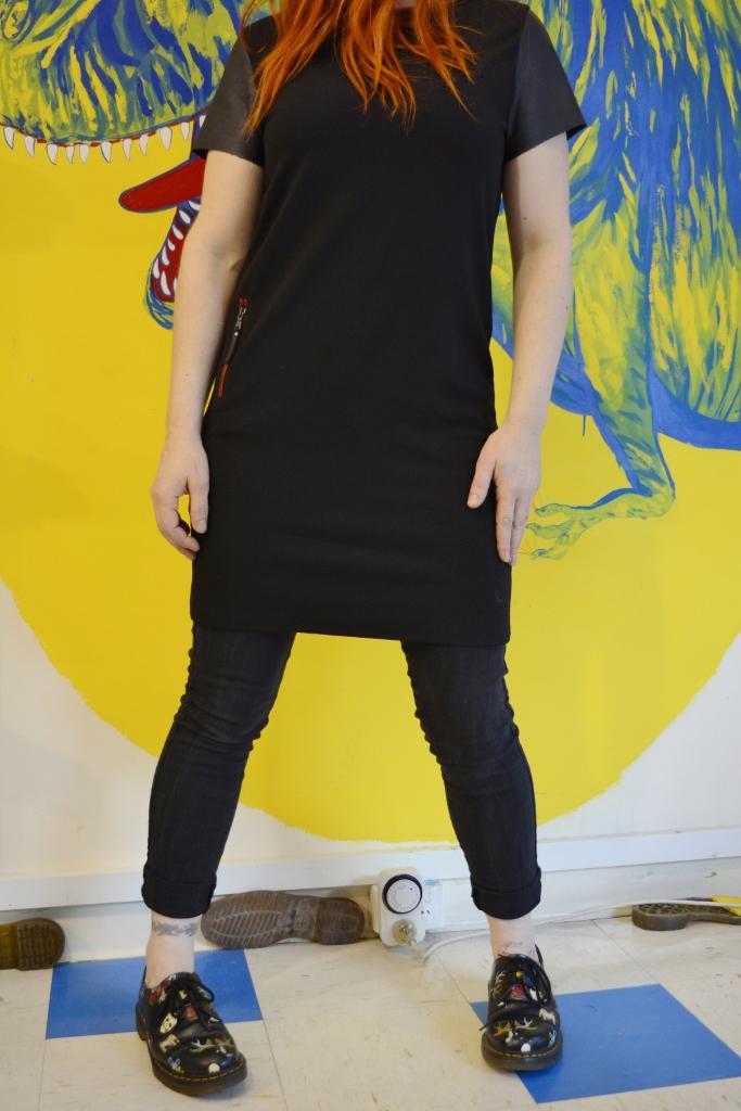 Dr Martens Leather Mix Shift Dress