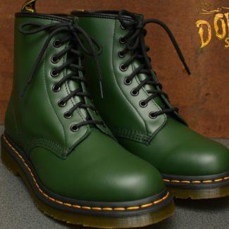 1460 Green Smooth 8 Eyelet Boot