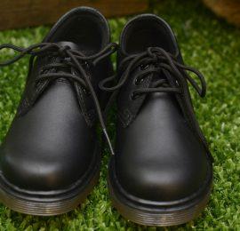 Everley 3 Eyelet Black Junior Shoe