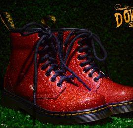Junior 1460 Glitter Red 8 Eye Boot