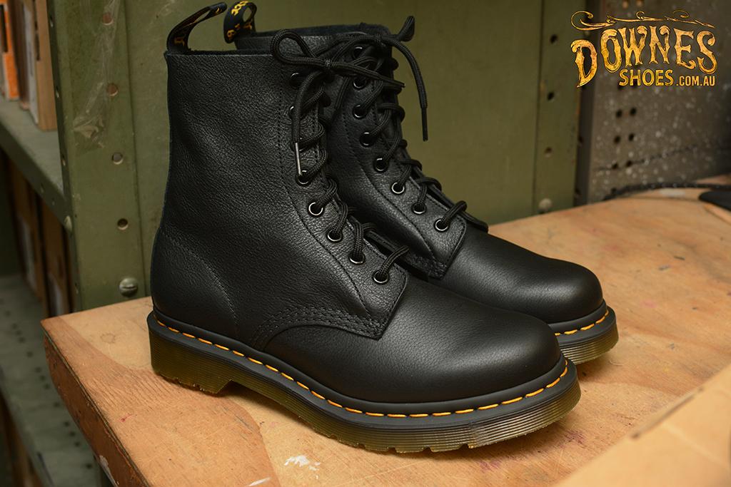 Pascal Black Virginia 8 Eyelet Boot