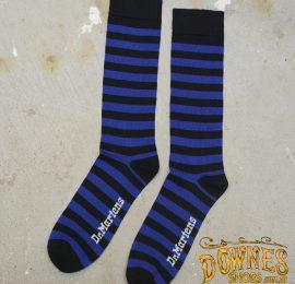 Stripe sock blue logo web