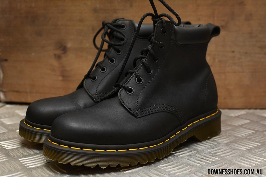 939 Black Greasy 6 Eyelet Ben Boot